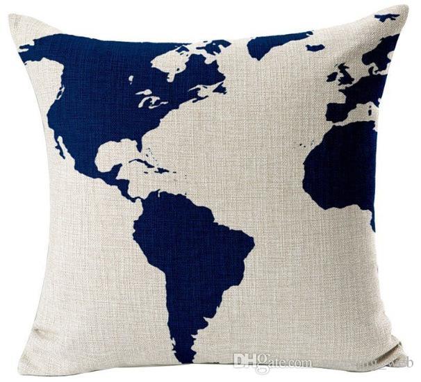 2017 sofá del coche funda de almohada 10 tipos patrón de tela de algodón ramio ramio funda de almohada encantadora impresión almohada