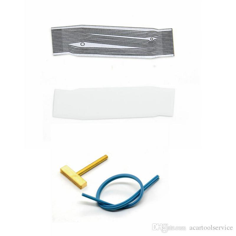 Für peugeot 206 pixel repair tool flach lcd stecker für peugeot 206 dasboard flachbandkabel pixel repair t-tip blau kabel