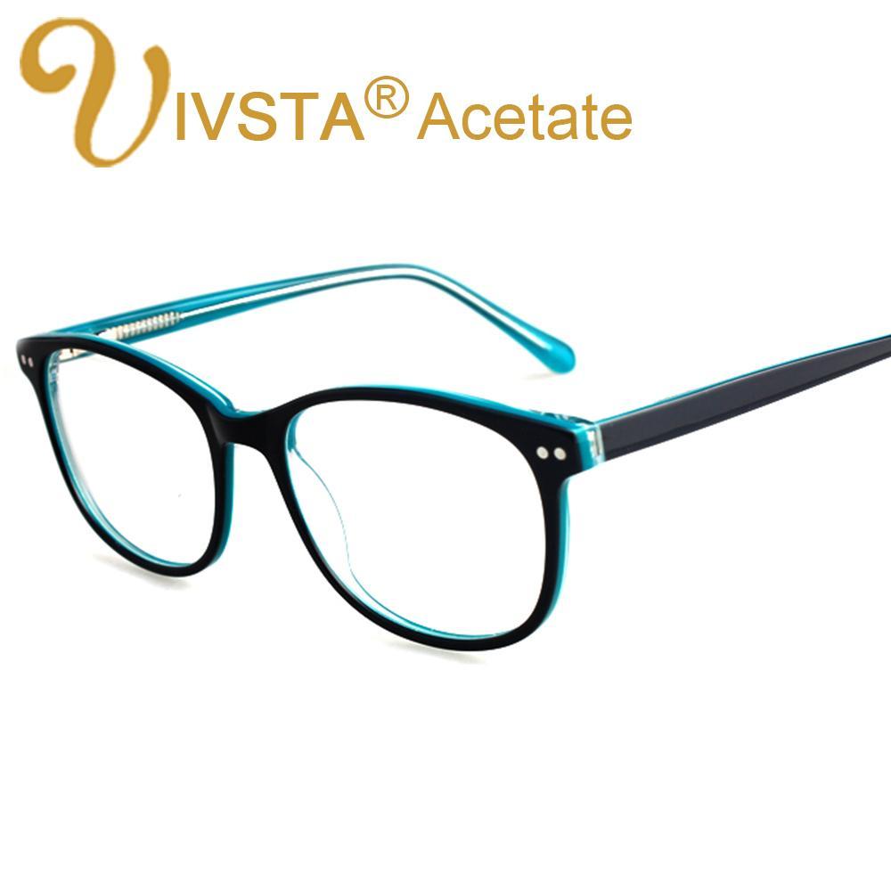 b0a652ceb95 2019 Wholesale IVSTA Handmade Acetate Optical Frames Cat Eye Big Eyeglasses  Prescription Lenses Spectacle Myopia Customed Oversized Eyeglass From  Value333
