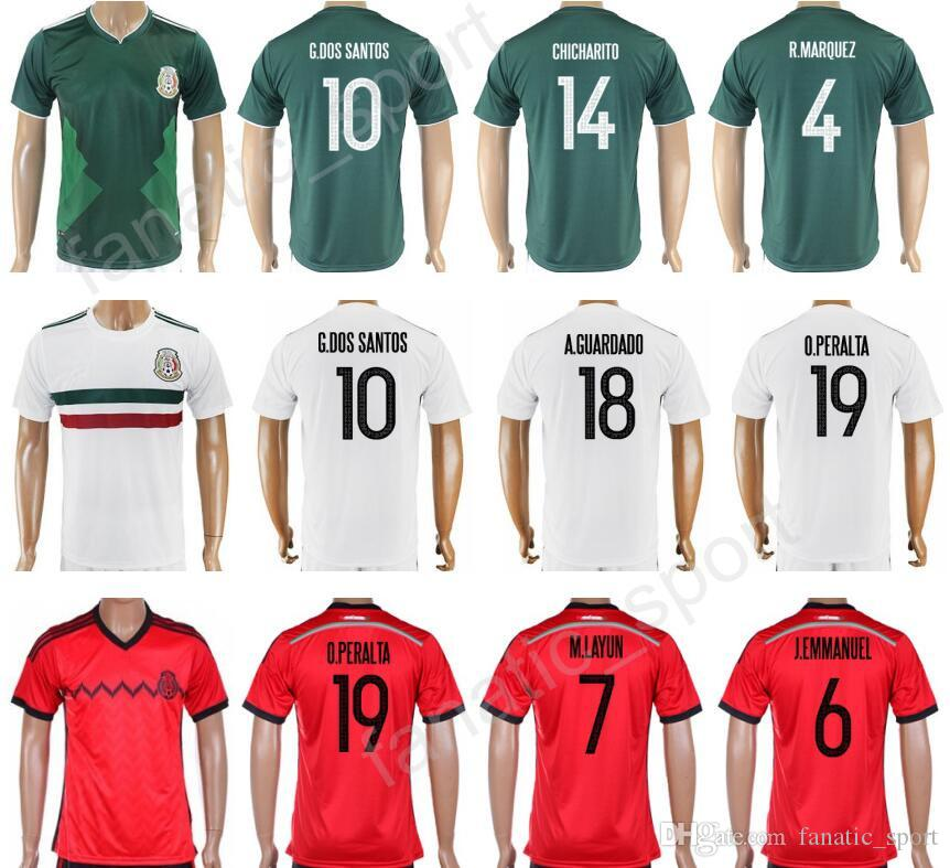 huge discount 5d2c1 aac2b womens mexico 10 giovani dos santos home 2016 2017 country ...