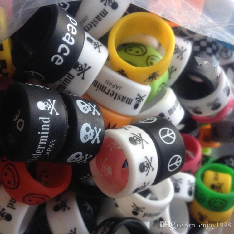 DHL geben: Custom Vape Bands Breite 12mm bunte Logo Vape Bänder Silikonringe für E-Zigaretten-Mod Rda Rba