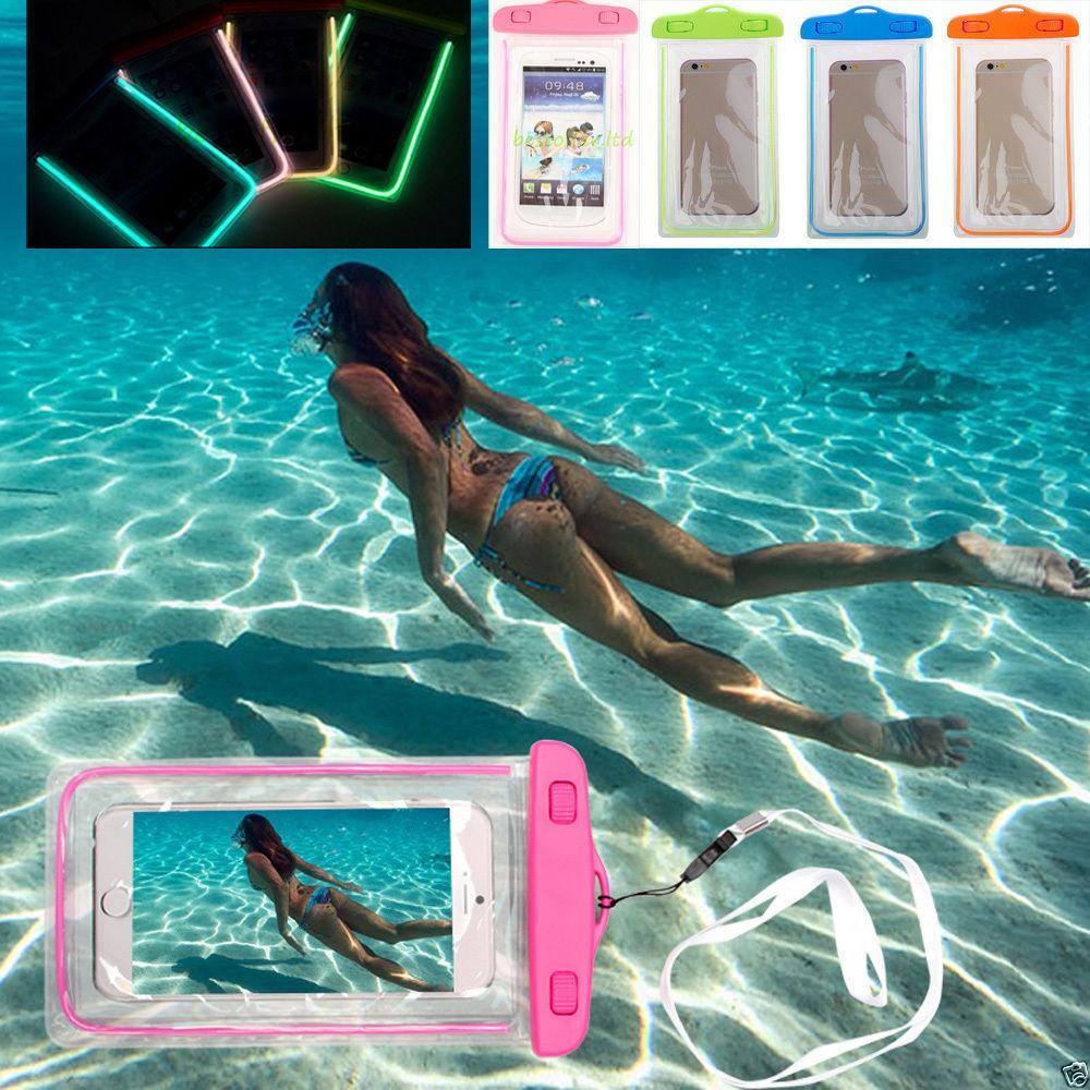 Luiminous wasserdichte Fall-Beutel-Schwimmen-Tauchens-Telefon-Kasten-Abdeckung für iphone 7plus 7 Samsung s8pus s8 Universal