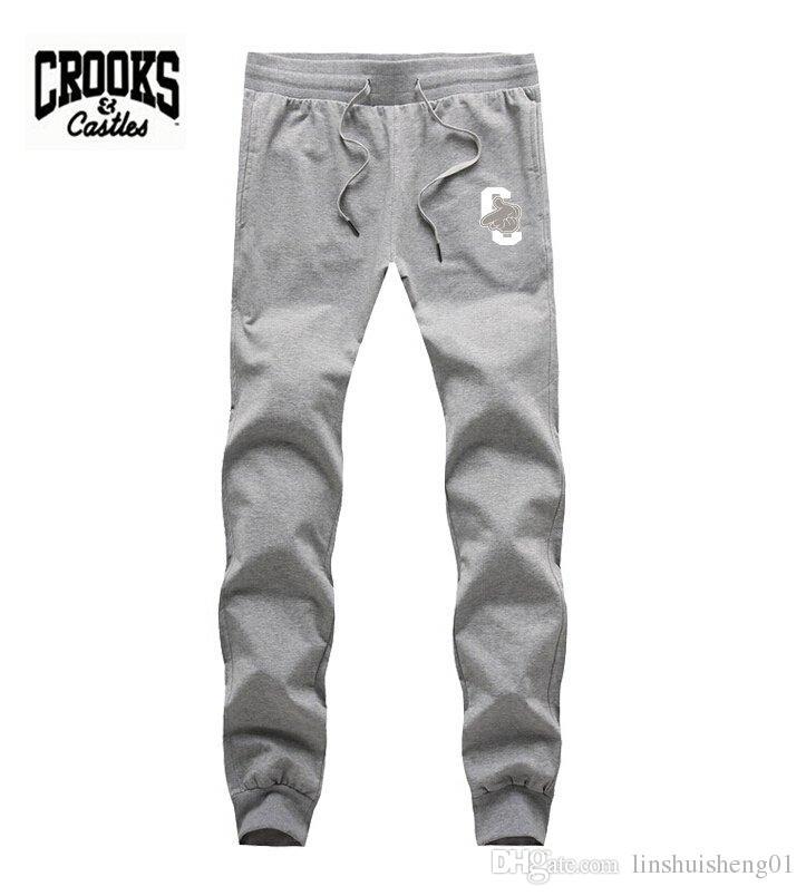 Mens Joggers 2017 Brand Male Trousers Men Crooks and Castles hip hop Pants Casual Jogging Sweatpants Jogger Black