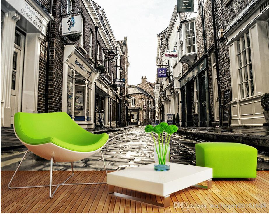 Satın Al Avrupa şehir Sokak Arka Plan Duvar Arka Plan Boyama Duvar