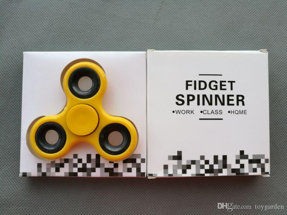 wholesale new Bearing Tri-Spinner ABS EDC Hand Spinners For Autism and ADHD Fidget Spinner Anti Stress kids Toys Long Spin Times