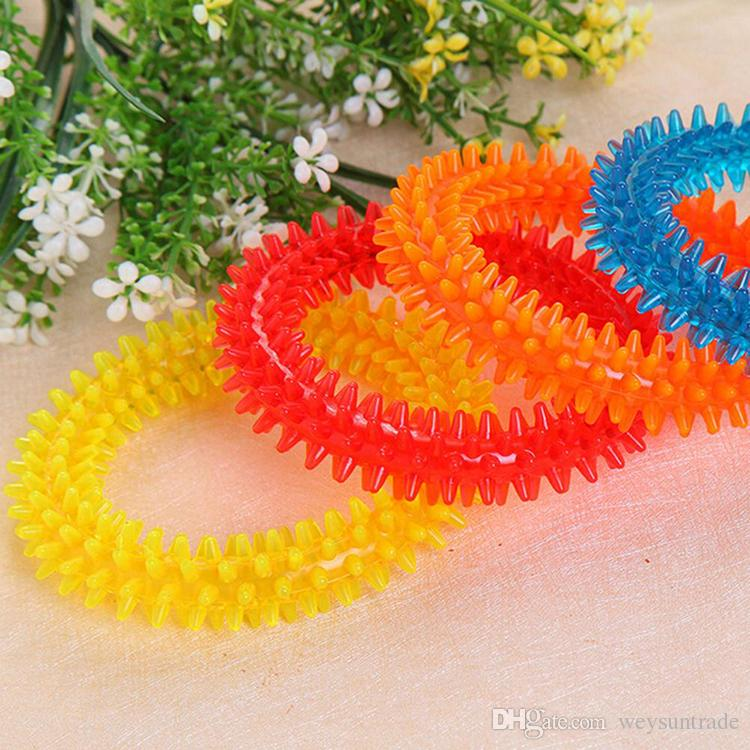 Multicolor Rubber Chew Pet Dog Puppy Dental Teeth Biting Ring Play Toy Cat Dog toys