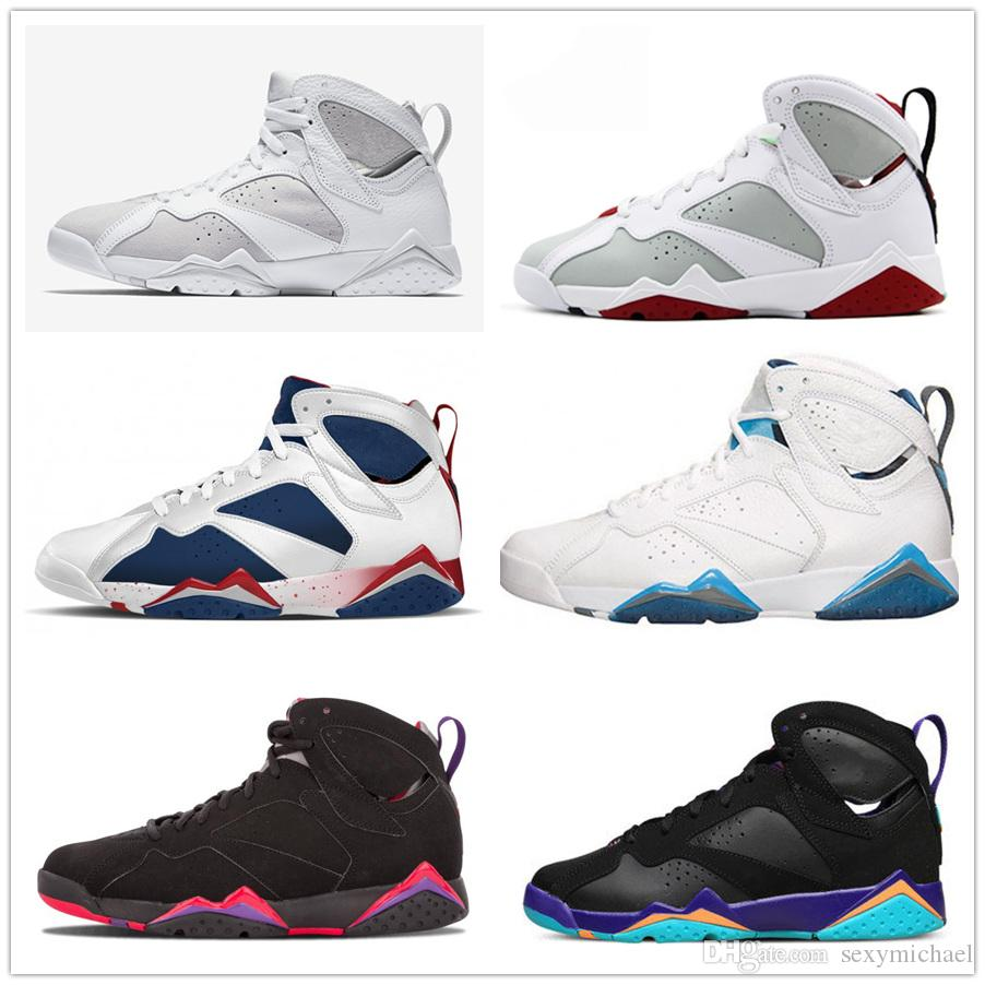b72f6f99147 7s Classic 7 Men Women Basketball Shoes Pure Money Hare Bunny Raptor French  Blue Bordeaux Hot Lava Verde Black Red White Blue Sneakers Sneakers Shoes  Shoes ...