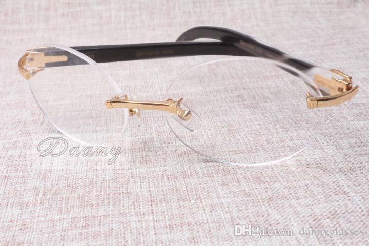 Hot-vente cadre de roue de luxe de haute qualité 8100903 lunettes noir et blanc naturel hommes de loisirs de la mode et les femmes lunettes Taille: 54-18-140mm