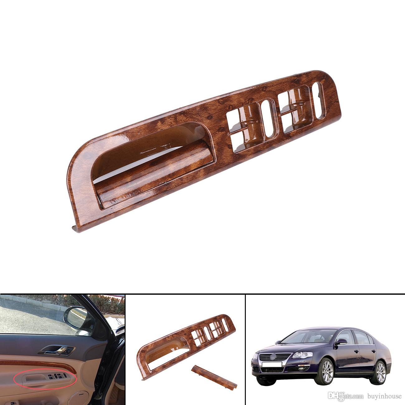 Wood Pattern Car Interior Door Window Switch Panel Bezel Handle