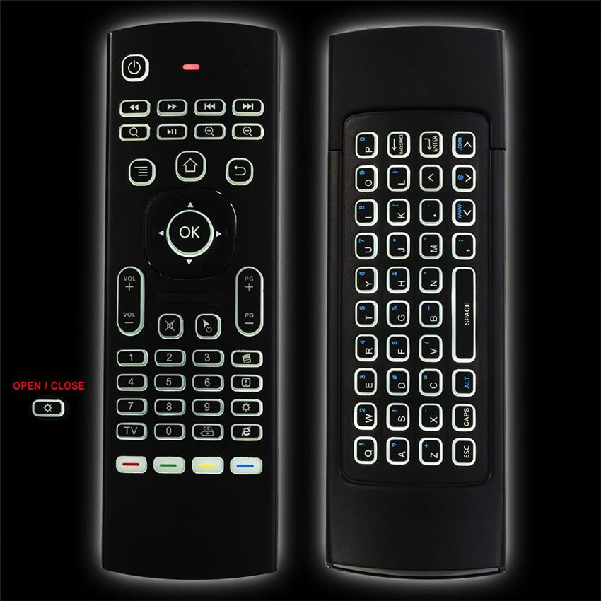 MX3 Backlight Wireless Keyboard Backlit MXIII Fly Air Mouse 2 4G Wireless  Remote Control IR Learning For MXQ Pro Android TV Box PC