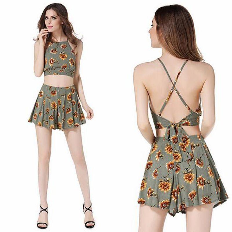 Hot Summer Women\'S Casual Bohemian Dresses Ladies Fashion Set Ladies ...