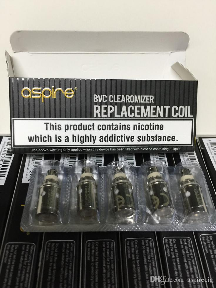 100% Original Aspire BVC replacement coil for Bottom Vertical Coil Suit For K1 K2 K3 CE5 CE5-S ET ET-S Maxi Vivi Nova-S Atomizer