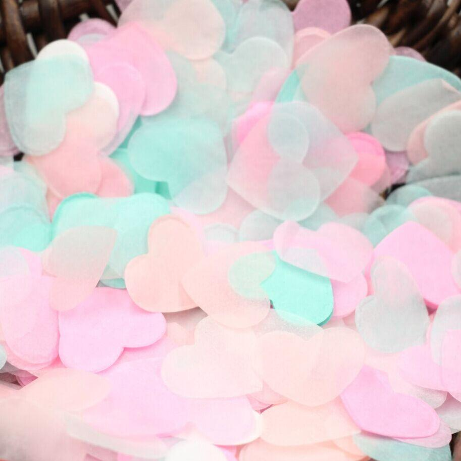 2018 /Bag Valentine\'s Day Decor, Pink Heart Confetti, Mint Table ...