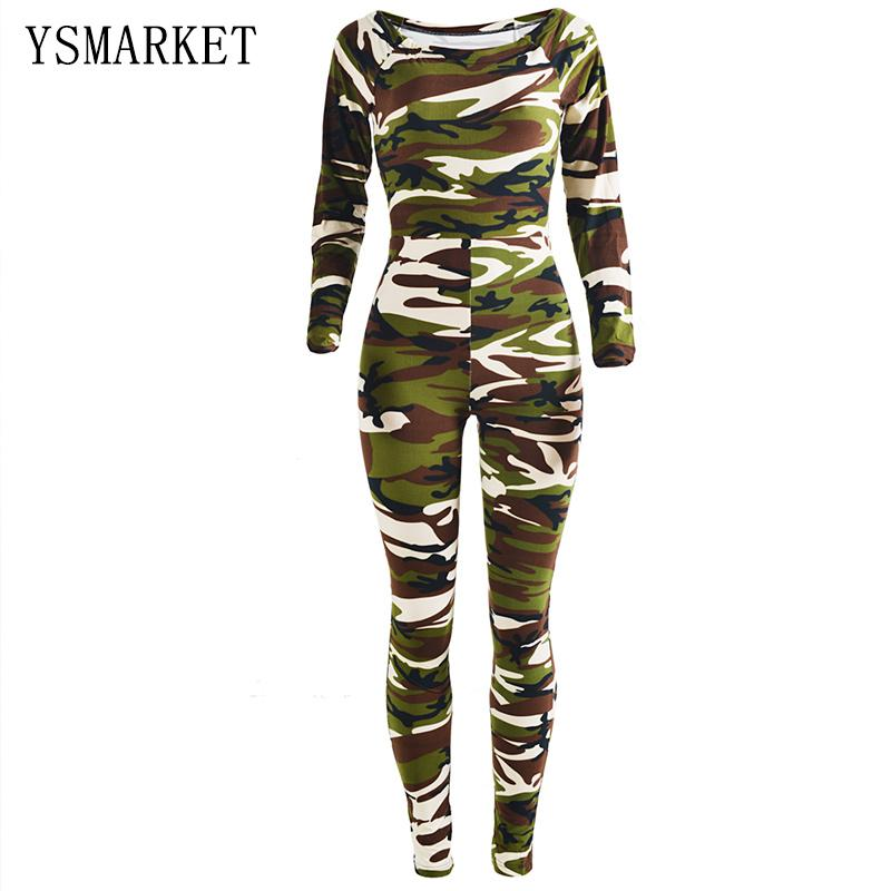 28505d892b0 2019 2017 Women S Camouflage Jumpsuit Hot Sale Autumn Long Sleeve Bodysuit  O Neck Romper Club Female Bodycon Workout Jumpsuit H3098 From  Yannismarket001