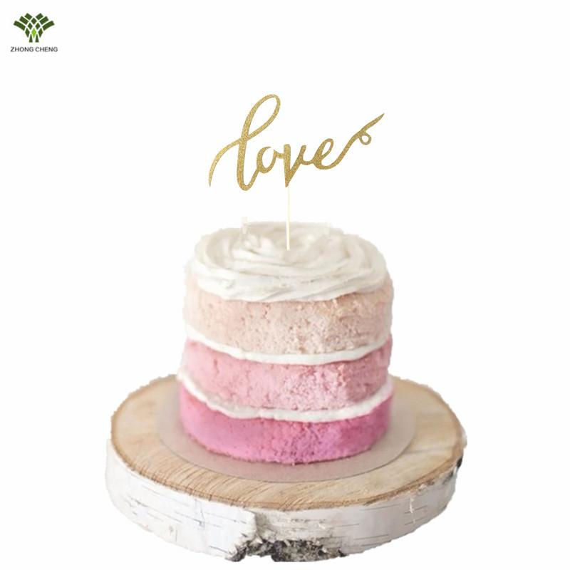 2019 Wholesale Love Cake Topper Love Letter Wedding Cake Picks Flag