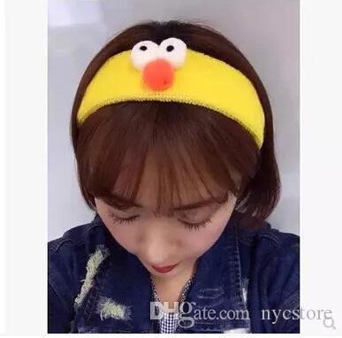 Corea bella Sesame Street Abby Cadabby Hairbands Fasce capelli esagerato simpatico cartone animato faccia Divertente peluche cerchio hoop fascia