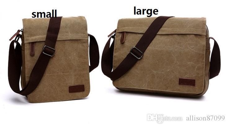 Hotsale casual toile messenger sacs Mens ordinateur portable sac bandoulière sac Ipad toile packs de la journée pour les jeunes hommes 2017 nouvelle hotsale
