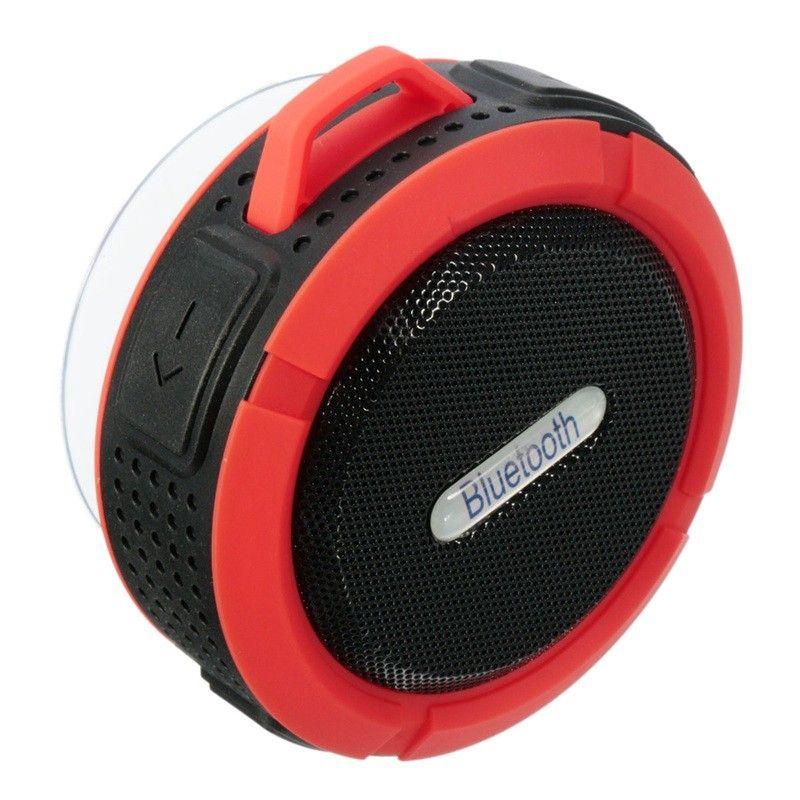 New Waterproof C6 bluetooth speakers Chuck dustproof Mini portable outdoor/Shower speaker with 5W Speaker/Suction Cup