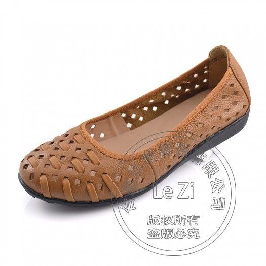 Grande Taille Chaussures Plates En Cuir 4dkJ01IYR