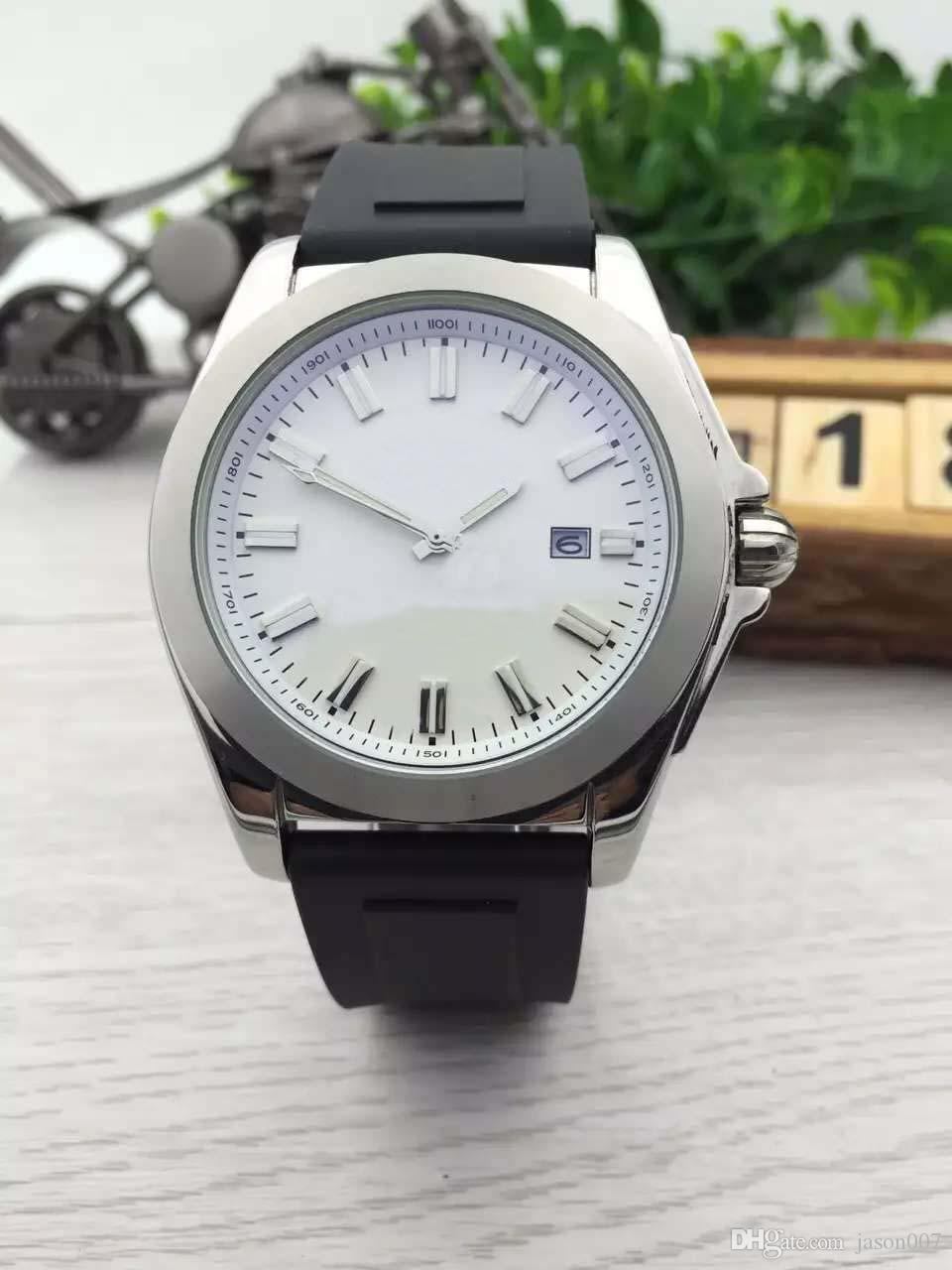 dress watch with rubber strap dhgate top seller new luxury brand watches men galactic white