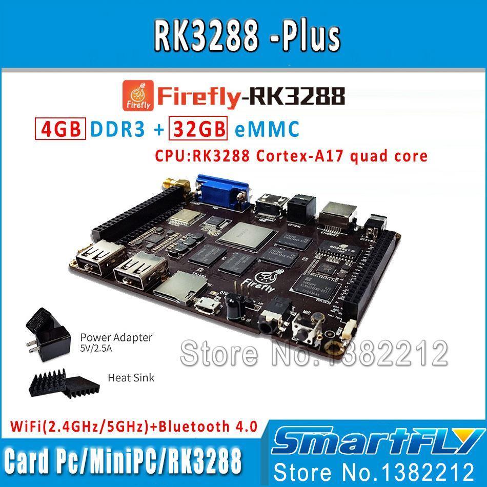 Freeshipping Plus Quad Core ARM Cortex-A17 Development Board 4G DDR 32G  eMMC 4K 5GWifi android linux Dual os demo board