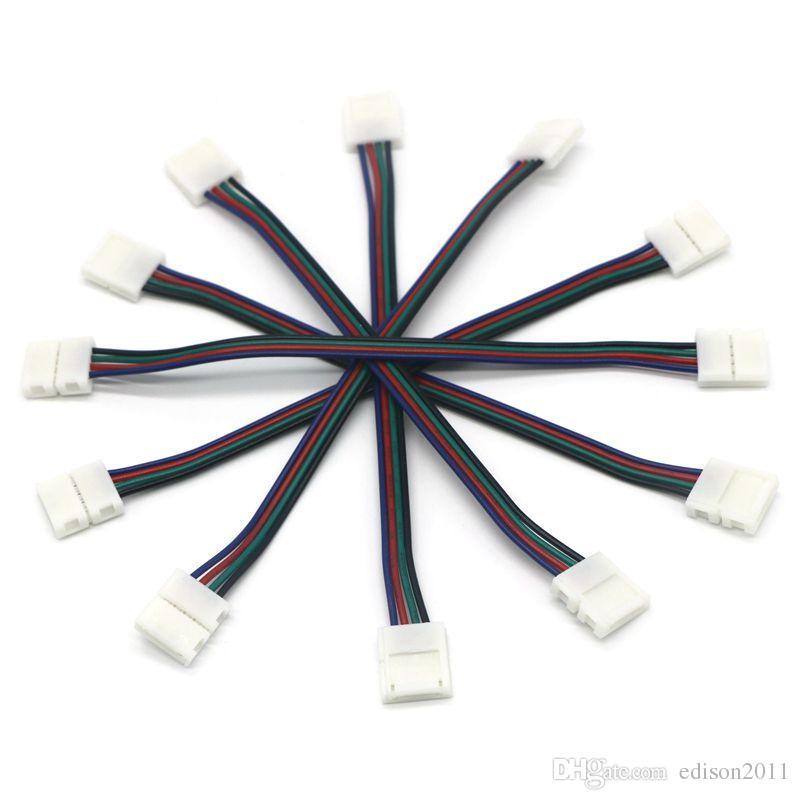 Edison2011 새로운 디자인 10 미리 메터 핀 스트립 커넥터 5050 RGB Led 스트립 와이어 무료 배송