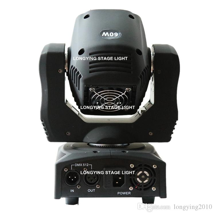 / 60W LED Spot Moving Head Led Gobos Effetto 9/11 canali DMX512 Spot Light Attrezzature DJ