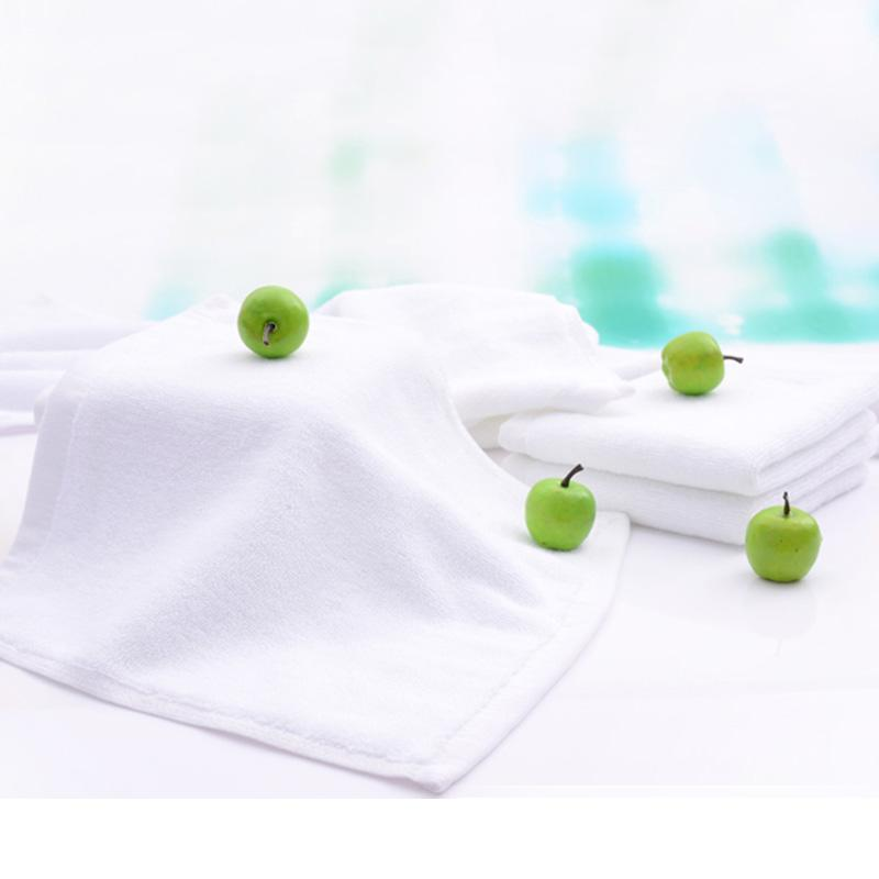 30cm*30cm-White towel--100% Cotton-Towel-Washcloth-For Guesthouse Hotel Bathing Beauty salon-Small Squre-Solid Color-Soft-High quality