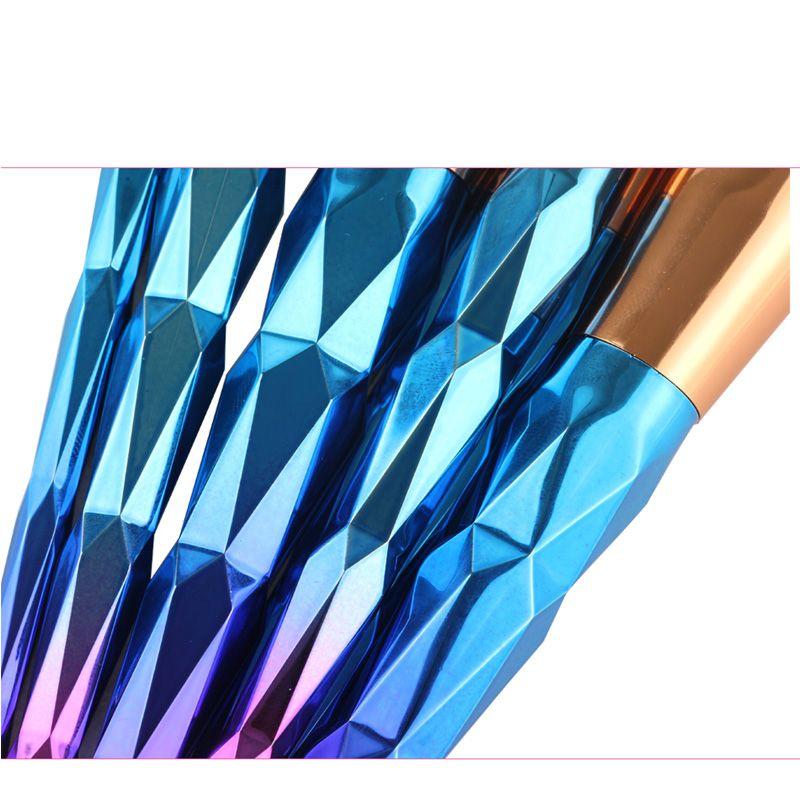 10 adet / takım Makyaj Fırça Seti Profesyonel Allık Pudra Kaş Göz Farı Dudak Burun Gül Altın Karıştırma Makyaj Fırça Kozmetik Araçları