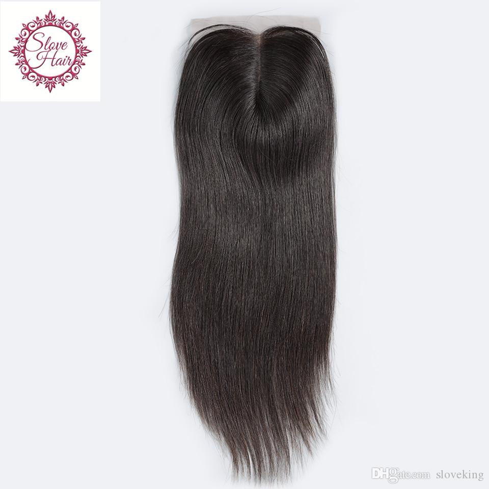 Virgin Peruvian Straight Lace Closure Bleached Knots Free Middle/3/Part Human Hair Closure Cheap 4x4 Lace Closure Free Shipping