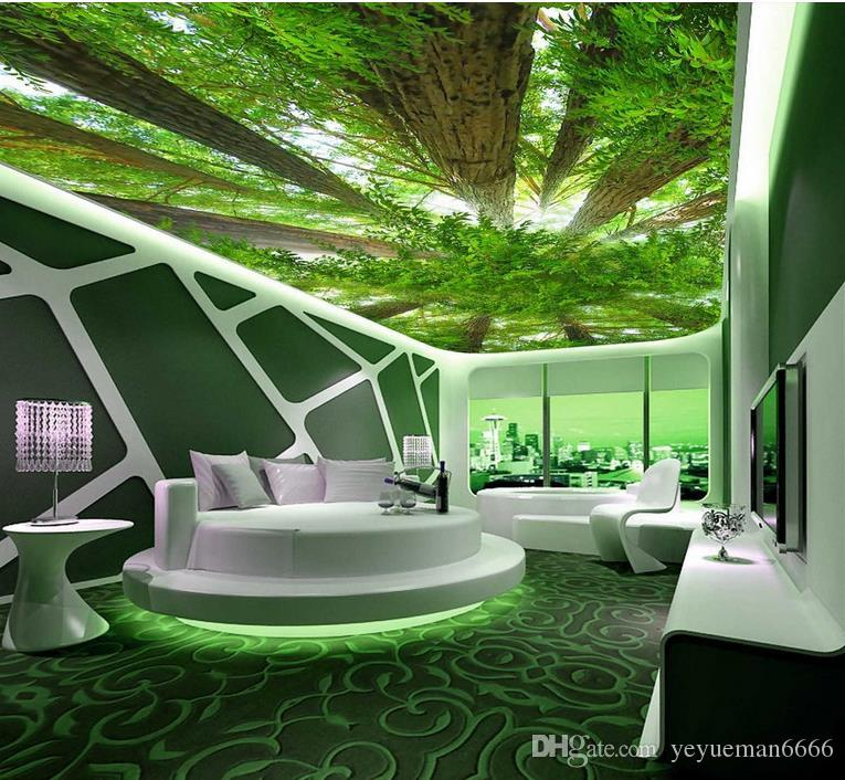 3d ceiling murals wallpaper customize wallpaper for walls 3 d sky ceiling Forest sky photo wall mural ceiling wall paper