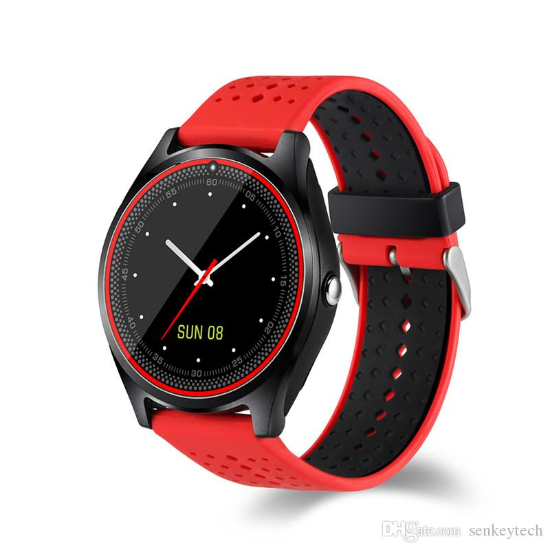 High Quality Bluetooth Wristwatch Smart Watch V9 DZ09 With Camera SIM Card Smartwatch For IOS Android Phones Support Multi languages