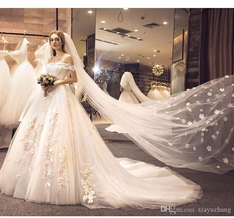 Wedding Dress, 2017 New Bride, Princess, Dream, Word, Shoulder ...