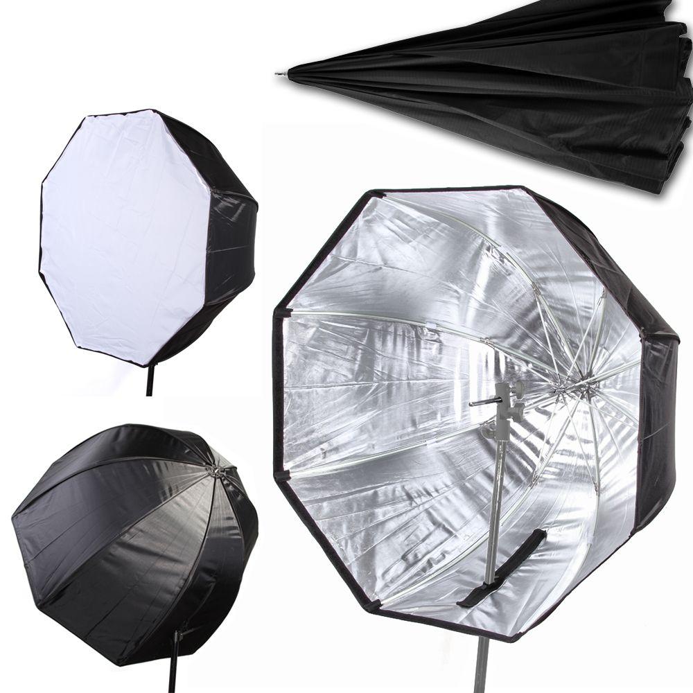 Wholesale- 80cm/32 Umbrella Softbox Brolly Reflector Diffuser with Carbon  Fiber Bracket for Speedlite Flash Light