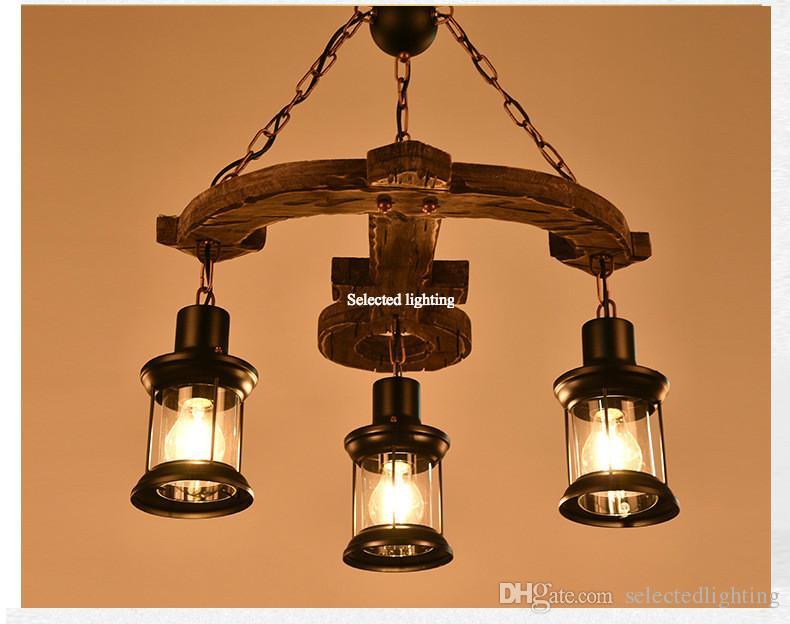 Lampade A Sospensione Vintage : Acquista lampada a sospensione vintage in legno retro illuminazione