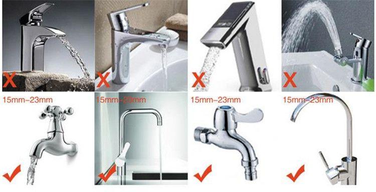 Practical Kitchen Shower Nozzle Rotary Anti Splash Tap Water Valve ...