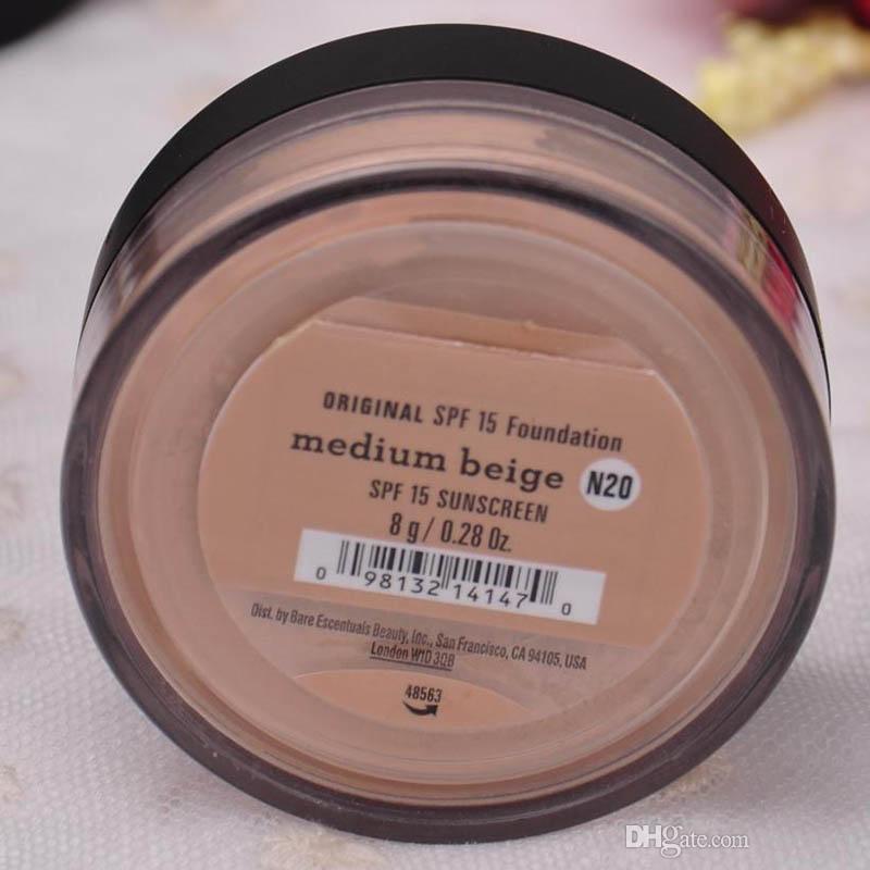 EN LA ACCIÓN es SPF15 / SPF25 maquillaje desnudo Minerals en polvo original Fundación SHIMMER / MATTE Fundación polvo de maquillaje DHL envío gratis