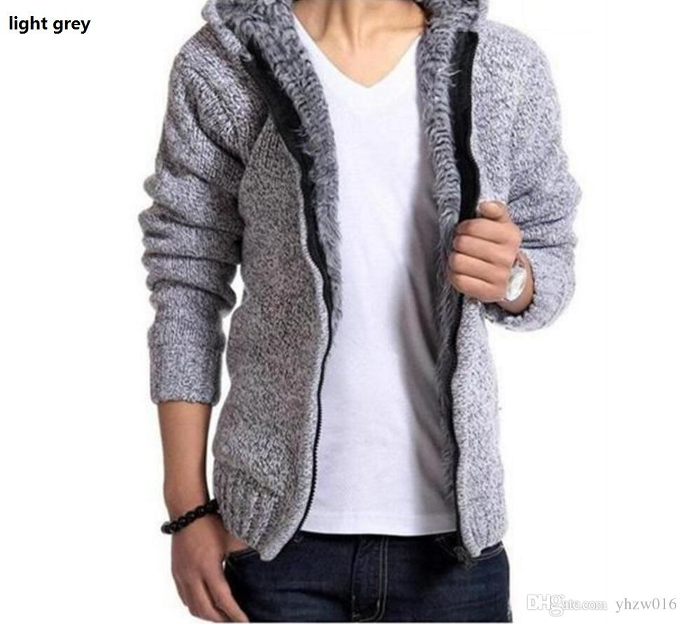 2018 Fashion New 2017 Men'S Cardigan Sweater Jackets Wool Blend ...