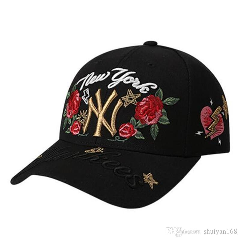 ny baseball caps uk yankees hat cap south africa letter embroidered roses