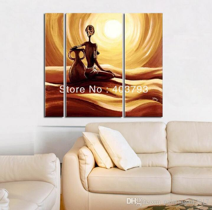 Modern abstract fashion oil painting on canvas for home decoration south african landscape beauty with pot painting art