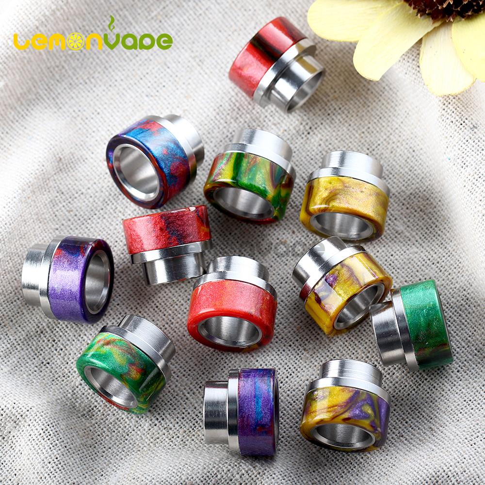 Wholesale- 1pc Epoxy Resin and Stainless Steel Drip Tip for Kennedy 24 RDA  Goon 528 RDA Battle Cap Mad Dog RDA 810 Vape Mouthpiece no logo