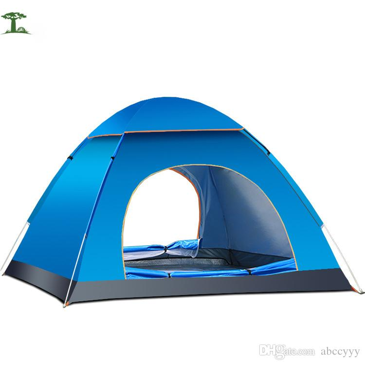 Outdoor Automatic Tent 3 People Single Layer 1.7kg Waterproof C&ing Tent For Hiking Fishing Trekking Beach Uv Protection Tent 2 Man Tent Cheap Tents For ...  sc 1 st  DHgate.com & Outdoor Automatic Tent 3 People Single Layer 1.7kg Waterproof ...