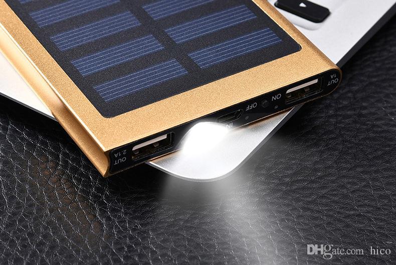 8000mAh 태양 열 충전기 및 배터리 태양 전지 패널 휴대용 전원 은행 손전등을 가진 셀룰라 전화 휴대용 퍼스널 컴퓨터 사진기 MP4를위한 알루미늄 포탄 방수 처리하십시오