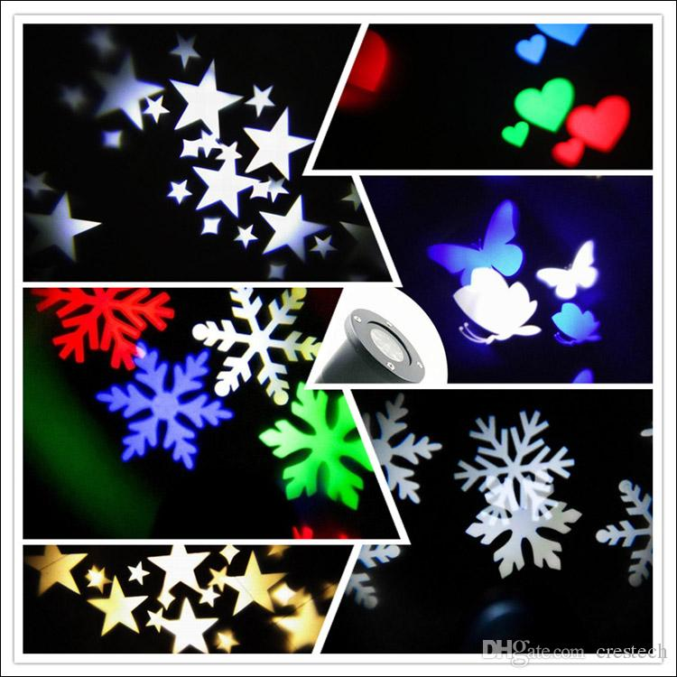 Muster RGBW 12 Auto Moving Colorful Design Weihnachtsfeiertag beleuchtet wasserdichte Projektionslichter LED-Beleuchtung