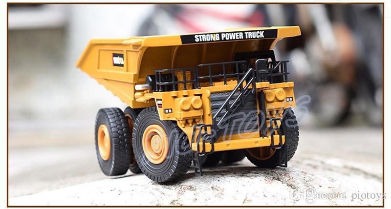 Noel Hediyesi 1/40 Metal Modeli Madencilik Trunk Araba Alaşım Araç Die-cast Statik Modelleri Ölçekli Oyuncaklar Arabalar Damperli Kamyonlar Mühendislik Eğitim Aracı