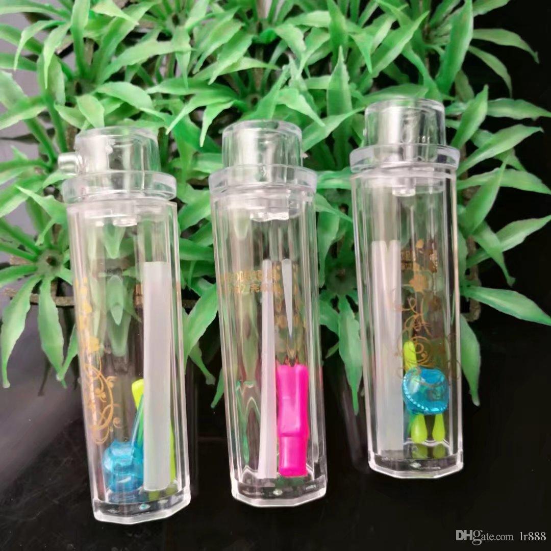 Yazhi Pot di manico in acrilico, New Unique Glass Bongs Tubi di vetro Tubi di acqua Narghilè Oil Rigs Fumo con Droppe