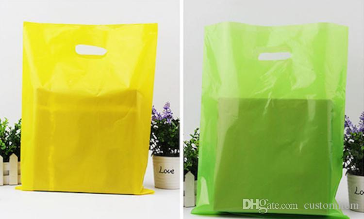 sacchetti di stoffa di PE di colore normale sacchetti di acquisto in bianco sacchetto di plastica di imballaggio in lattina può personalizzato stampa azienda pubblicità sacchetti regalo all'ingrosso