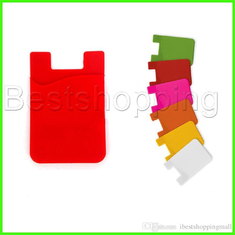 Tarjeta de crédito autoadhesiva ultrafina tarjeta monedero conjunto de tarjeta de silicio colorido para smartphones para iphone x 8 7 6s sumsung s8 s9 plus