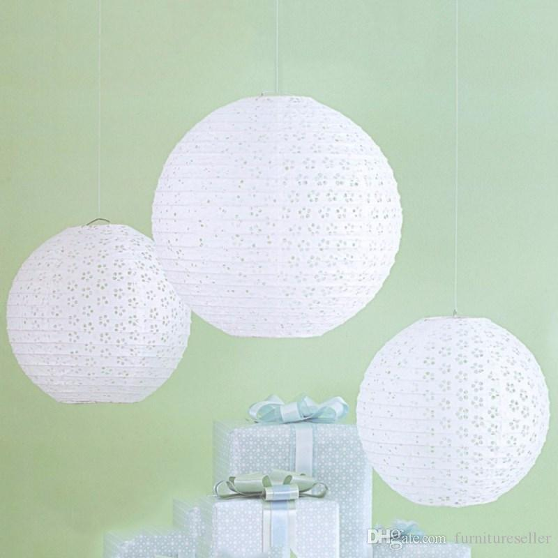 8 to 1640cm white hollow chinese paper lantern ball luminaria paper 8 to 1640cm white hollow chinese paper lantern ball luminaria paper lanterns wedding party decoration accessories decoration material for party decoration aloadofball Gallery