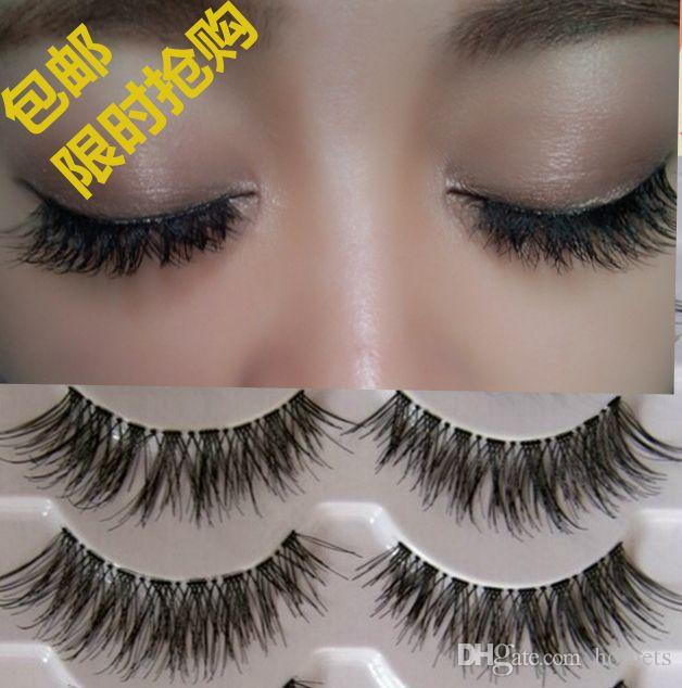 Box False Eyelashes Messy Cross Thick Natural Fake Eye Lashes
